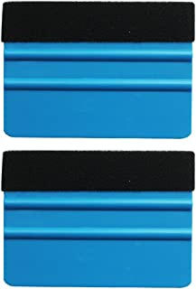 EEFUN Durable Black Felt Edge Squeegee 4 Inch for Car Vinyl Film Wrapping Decal Squeegee Window Tint Work, Professional Scratch Free Squeegee. Pack of 2