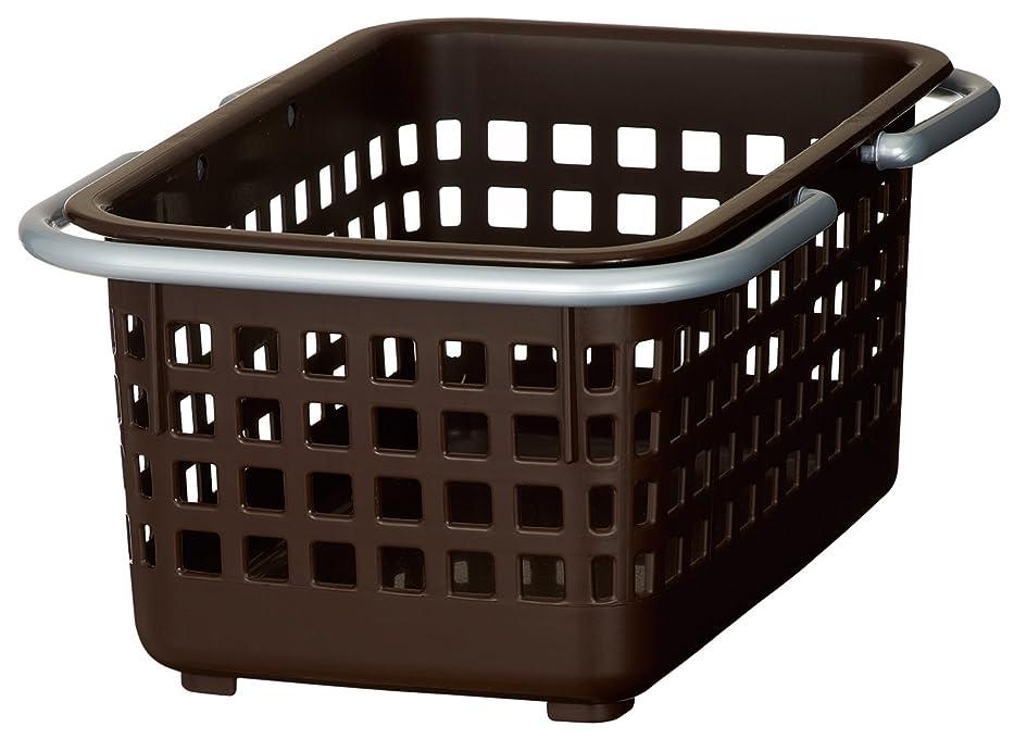 櫛肌寒いうぬぼれたlike-it シャンプー バスケット ミニ スカンジナビアスタイル ブラウン 幅20.7x奥30.6x高13.6cm SCB-2
