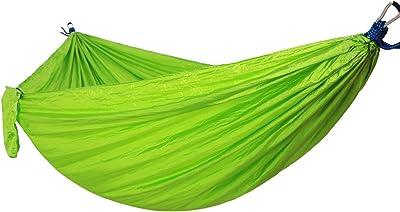 DaiHan Hamacas Colgantes, Tienda de Campaña, Hamacas Jardin Portátil y Ultra-Ligera, para Interiores, Exteriores, Jardín, Viaje, Senderismo, Excursión, Playa Verde M: Amazon.es: Jardín