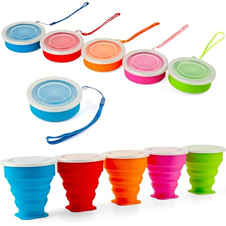 3pc//set Silicone Folding Cup Set Telescopic Collapsible Travel Camping Tool