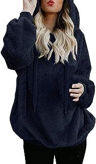 Wintialy Women Warm Fluffy Winter Top Hoodie Sweatshirt Ladies Hooded Pullover Jumper