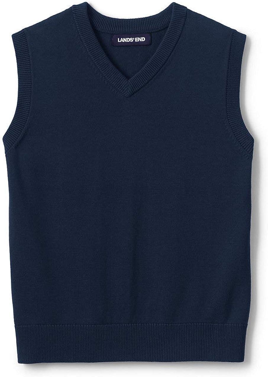 Lands' End School Uniform Kids Cotton Modal Fine Gauge Sweater Vest