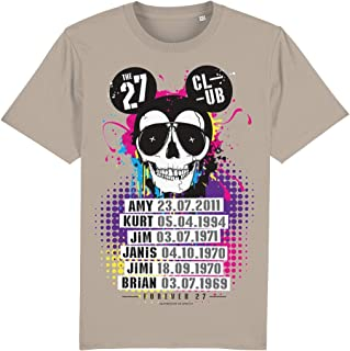IQ Freedom Of Speech 27 Club Mouse Skull 100% Organic Cotton T-Shirt