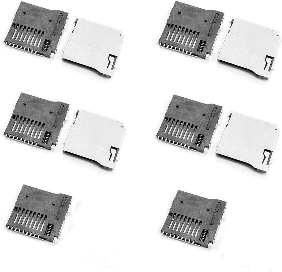 QMseller 10 Pcs Spring Loaded Push/Push Micro SD Transflash Memory Card Socket Slot