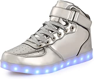 Namenlos Unisex Kids LED Heelys Rollschuhschuhe mit Doppelrolle abnehmbar Become Sport Trainer USB Charge Led Turnschuhe f/ür Jungen M/ädchen,Blau,28
