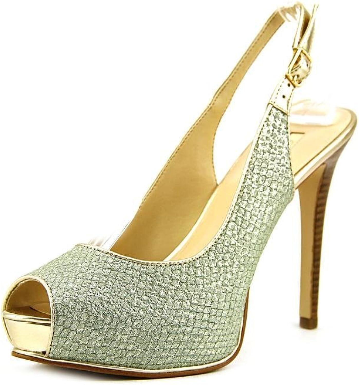 Guess Huela Women US 7 bluee Peep Toe Slingback Heel
