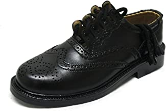 Tartanista Mens Ghillie Brogue Formal Leather Kilt Shoes