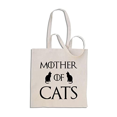 69887c2daf Mother of Cats - Funny Cotton Shopper Tote Bag