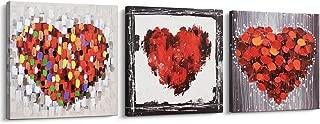 Best heart art on canvas Reviews