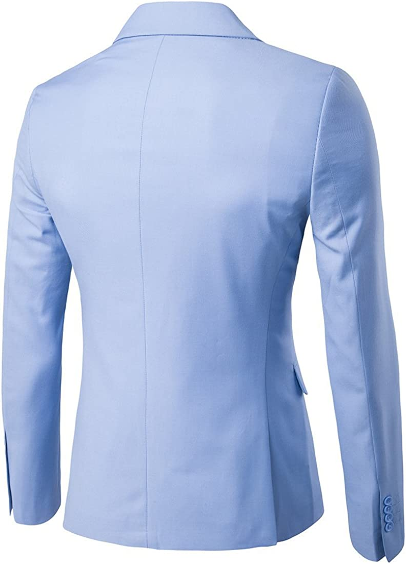 Frank Men's Suit Slim Fit Light Blue 3 Pieces Custom Made Wedding Suits Handsome Business Party Groom Tuxedos