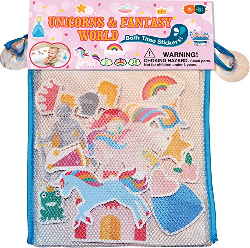 Buddy & Barney   Fantasy World Unicorn Princesses Fairy Castle Bath time Toy Stickers BB050