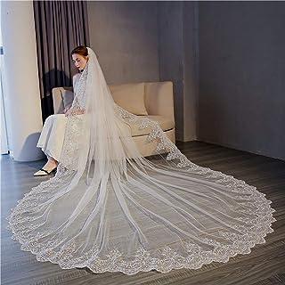 QQA Matrimonio Velo Sposa Accessori Strass Bordo Con Pettine Partito Vacanza Bianco Avorio 2