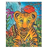 Colorvelvet 37x 28cm Tigre y Mariposa Sistema de Dibujo para Colorear (tamaño Mediano