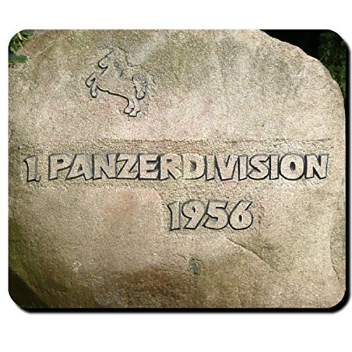 1 pantserdivisie 1956 Bundeswehr Gedenking Stone Panzer Div Bund Niedersachsen Hannover PzDiv paard Militair Duitsland - Muismat Mousepad Computer Laptop PC #7954