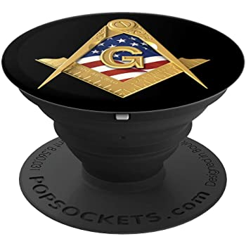 Masonic US Flag Square & Compass Freemason Lodge Emblem PopSockets Grip and Stand for Phones and Tablets