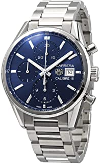 Tag Heuer Carrera Blue Dial Men's Chronograph Watch CBK2112.BA0715