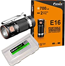 Fenix E16 700 Lumen CREE neutral white LED EDC/keychain Flashlight EdisonBright BBX3 battery carry case bundle