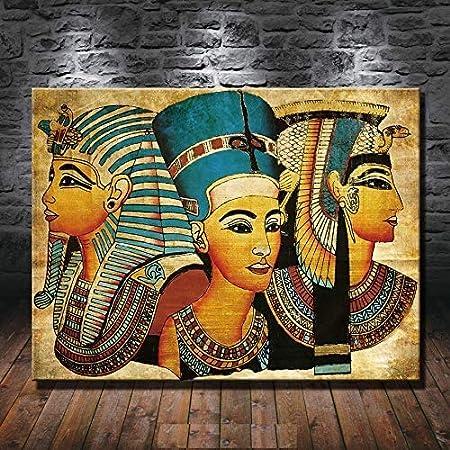 12x16inch,Framed Art Inn Original Decorations Art for Bedroom Living Room Home Decor Art HD Print Oil Painting on Canvas,Egyptian mythical sphinx