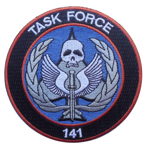 Call of Duty Modern Warfare Task Force 141 Logo [Black/Red] Embroidered PATCH (3.5 Inches)