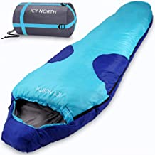 ICY North Mummieslaapzak, 230 x 82 cm, winterslaapzak, comfortabele temperatuur tot 6 °C, dekenslaapzak, campingslaapzak, ...