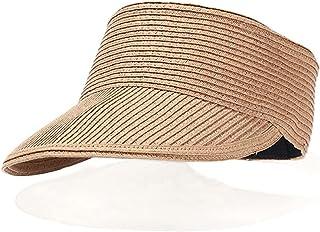 SMEJS New Empty Top Suncap Women Summer Outdoor Beach Hat Portable Foldable Roll-up Wide Brim Sun Hat Fashion Casual Straw...