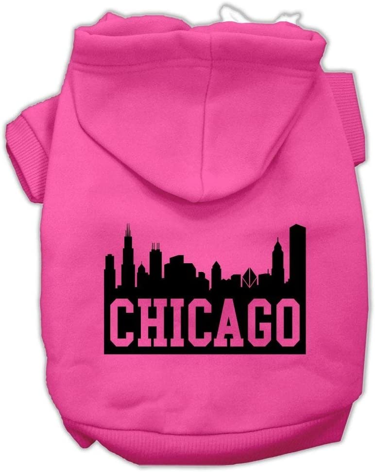 Mirage Max 82% OFF Pet Products Chicago Skyline Mail order Screen Print Hoodies Br