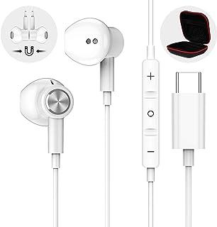 USB C Headphones for Samsung S20 FE, APETOO Type C Earbuds USB C Earphones HiFi Stereo Magnetic Headphones with Mic for Ga...