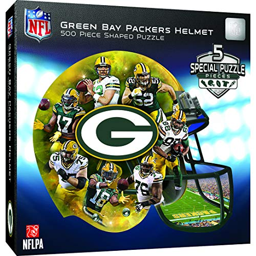 MasterPieces Green Bay Packers 500pc Helmet Shaped Puzzle