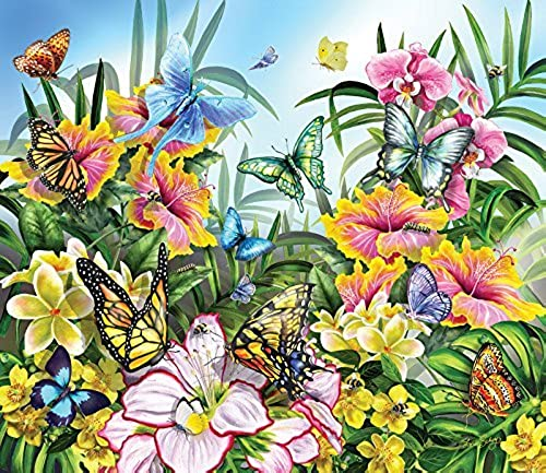 SunsOut 34890 - Butterflies in the Garden - 200 Teile Kinderpuzzle