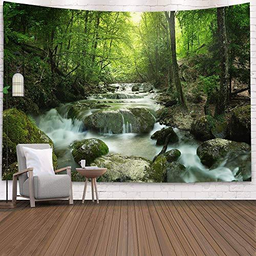 WERT Tapiz de Bosque psicodélico 3D jardín de Cuento de Hadas Hippie Colgante de Pared decoración de la Sala de Estar Tapiz Tela de Fondo A7 100x150cm