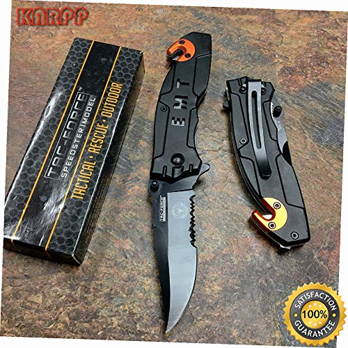Spring Open EMT Emergency EMS Rescue Outdoor Tactical Pocket Knife - Outdoor Camping perfect For Hunting EDC EMT