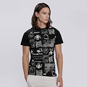 Smiley World T-Shirts For Men, Black XL