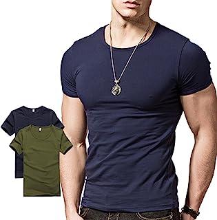 Hyuling Mens Short Sleeves T-Shirt Crew-Neck(2pack, 3pack)