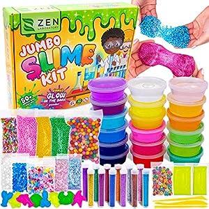 DIY Slime Kit Set para Niñas Niños, Activador Slime para Hacer Kit Slime, Cola para Slime - Fabrica de Slime - El Mejor Kit Slime Factory con que Brilla Oscuridad Bolas – 18 x Caja Sorpresa de Slime