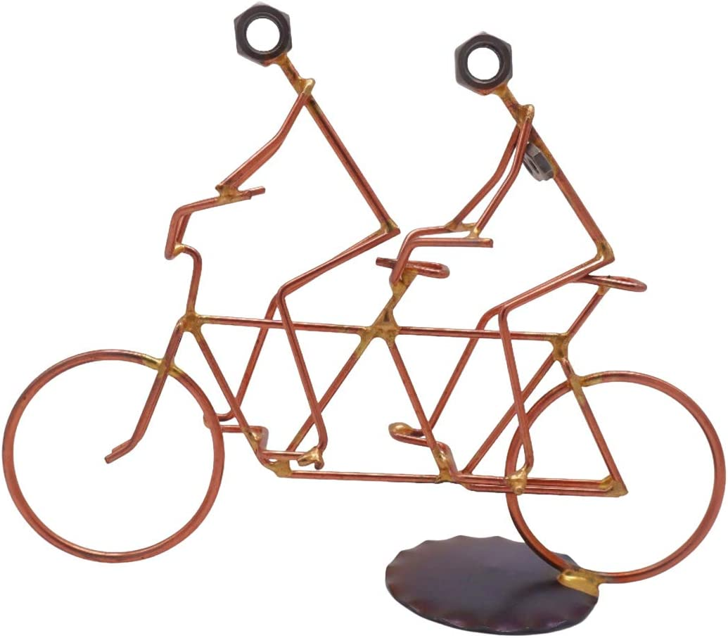Tandem Bike Collectible Handmade Metal Access Desk Today's only Art Gorgeous Figurine