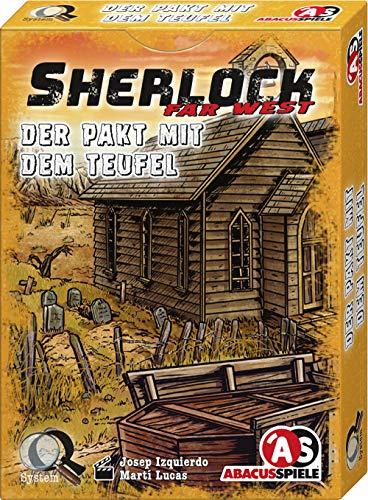 ABACUSSPIELE 48204 - Sherlock Far West - Der Pakt mit dem Teufel, Krimi Kartenspiel