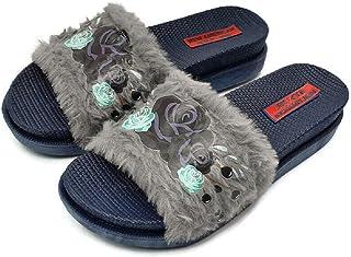 NEW AMERICAN Women Comfortable Fur Slippers