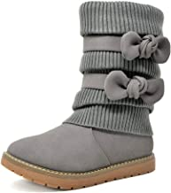 DREAM PAIRS Girl's Winter Snow Boots Faux Fur Lined Mid Calf Shoes