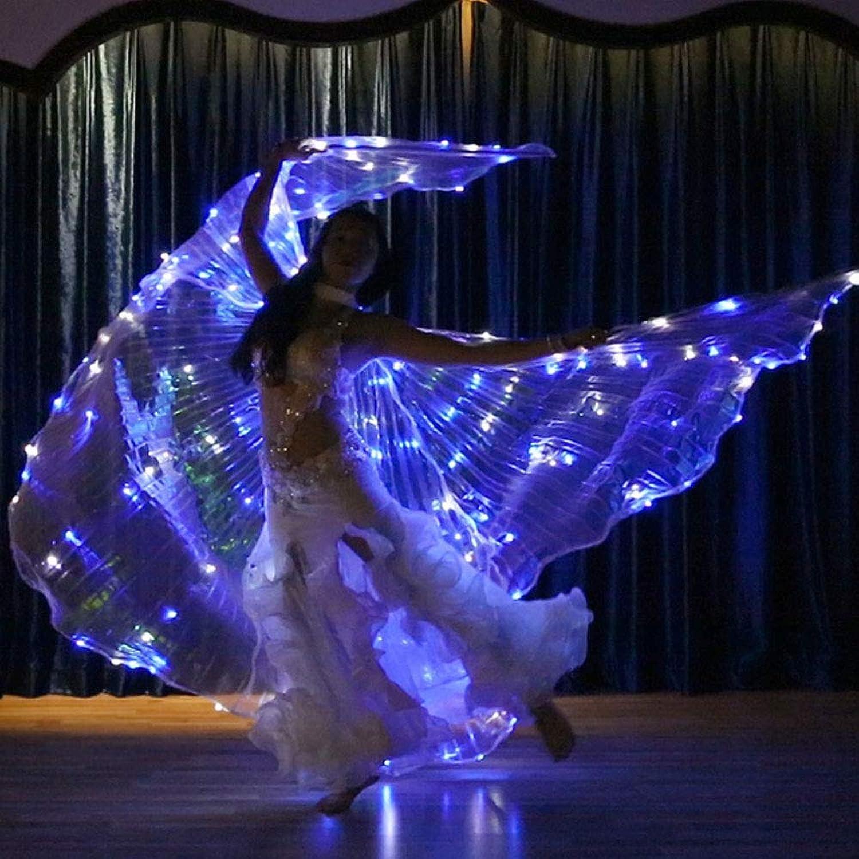 muchas concesiones Luz LED 360 Degree Big Wings Pixie CosJugar Accesorio Accesorio Accesorio Cape Adult Belly Dance Butterfly Fairy Wing Glow Light para Masquerade Cochenival,azul+blanco  promocionales de incentivo