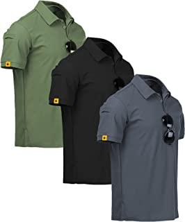 ZITY Sportswear Men's 100% Polyester Moisture-Wicking Short-Sleeve T-Shirt (1 Pack 3 Pack)