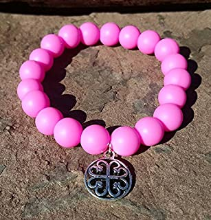 Pink Silcone Bracelet Bella Cuff not Rustic Cuff Catherine