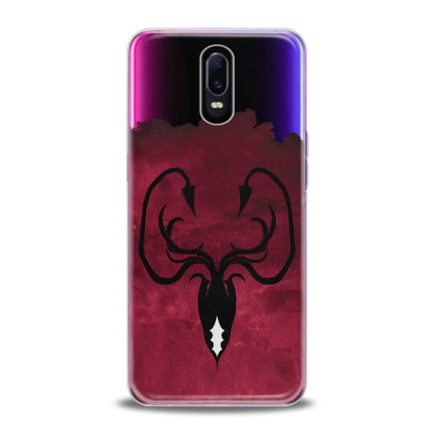Lex Altern TPU Case for Oppo R17 F11 Realme 2 Pro 1 R15 F7 F9 K1 A7x Greyjoy Flexible Octopus Symbol Gift Smooth Black Print Slim fit Game of Thrones Cover Soft Clear Red Design Kingdoms Lightweight