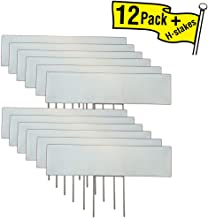 12 Pack 6x24 Blank Lawn Sign/Rider/Topper, with 6x12 H-Stakes. Add to The Top of an existing Lawn Sign for Greater Visibility and Added Customization.