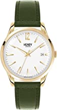 Henry London Unisex Adult Analogue Classic Quartz Watch with Leather Strap HL39-S-0098