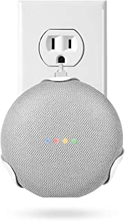 LANMU Outlet Wall Mount Google Home Mini,Outlet Shelf Holder Google Home Mini Voice Assistants