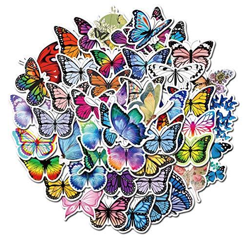 PWSTY 50Pcs Beautiful Butterfly Fairy Stickers DIY Skateboard Laptop Guitar Refrigerator Scrapbook Car Toys Decal Stickers (Butterfly Elves)