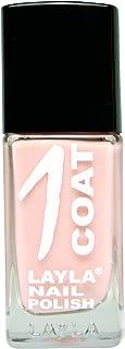Layla Cosmetics One Coat Nail Polish Hopelessy in Beige 1X 0.017L)