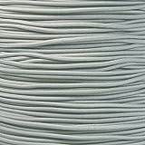Paracord Planet – Cuerda elástica 1/8' en varios colores–elegir entre 3 m, 7 m, 15 m y 30 m. Fabricado en Estados Unidos., Gris plateado