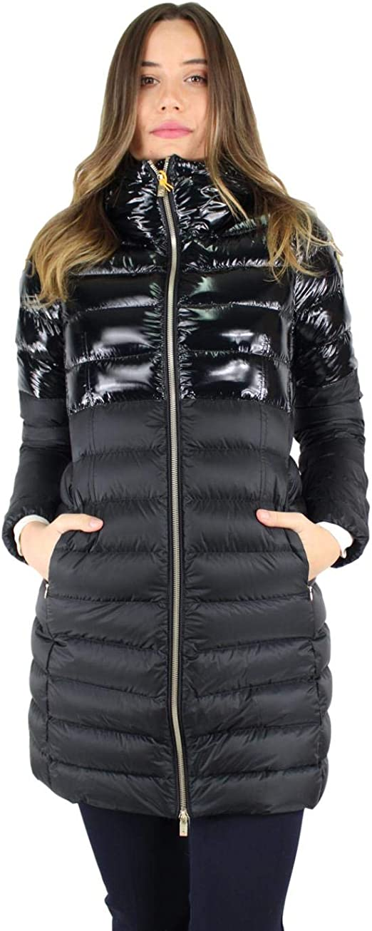 ciesse piumini nitak piumino cappuccio nero lungo : mainapps: amazon.it:  moda  amazon.it