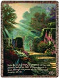 Manual Inspirational Collection Tapestry Throw with Verse, Garden of Grace by Thomas Kinkade, 50 X 60-Inch